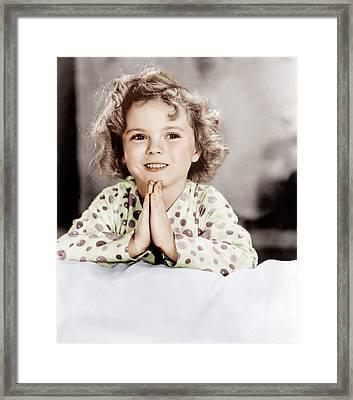 Little Miss Marker, Shirley Temple, 1934 Framed Print by Everett