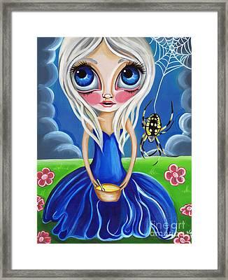 Little Miss Muffet Framed Print