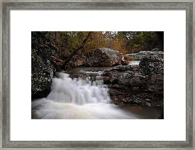 Framed Print featuring the photograph Little Missouri Falls by Renee Hardison