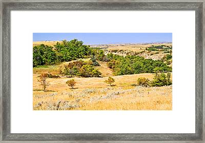 Little Missouri River Grasslands Framed Print by Bill Morgenstern