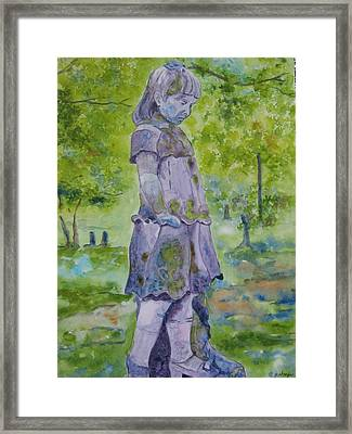 Framed Print featuring the painting Little Nanny  by Patsy Sharpe