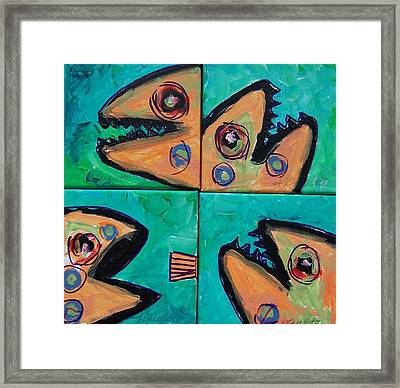 Little Orange Fish Framed Print