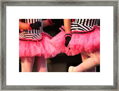 Little Pink Tutus Framed Print by Lauri Novak