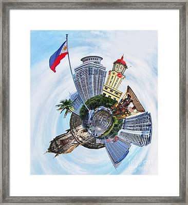 Little Planet - Manila Framed Print by Yhun Suarez