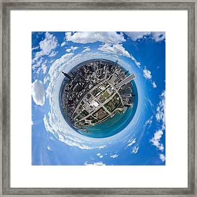 Little Planet Chicago Framed Print