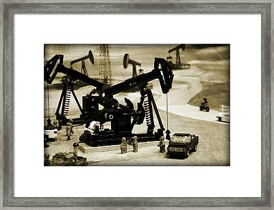 Little Pumpjacks Framed Print