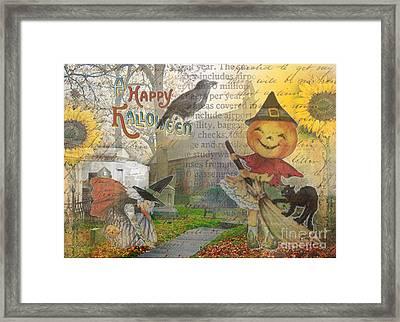 Little Pumpkin Girl Framed Print