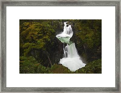 Little Qualicum Falls Provincial Park Framed Print by Mike Grandmailson