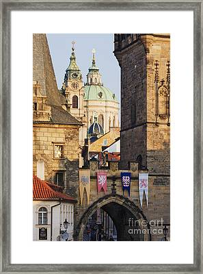 Little Quarter Towers And St Josephs Church Framed Print by Jeremy Woodhouse