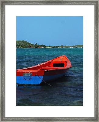 Little Red Boat Framed Print by Sandy Fisher