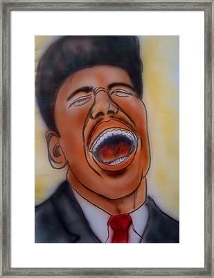 Little Richard Framed Print by Pete Maier