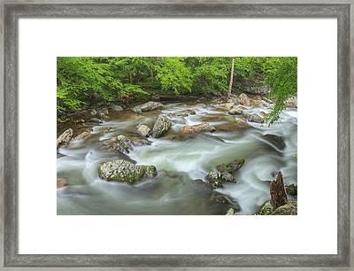 Little River Rapids Framed Print by Dean Pennala