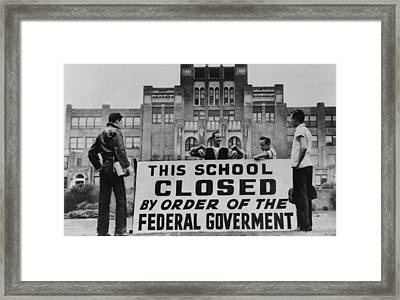 Little Rock Central High Was Closed Framed Print by Everett