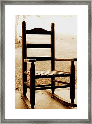 Little Rocking Chair Framed Print by Hannah Miller