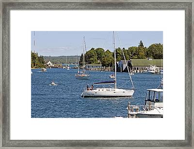 Little Round Lake Framed Print by Bob Niederriter