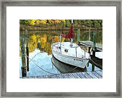 Little Sailboat Framed Print