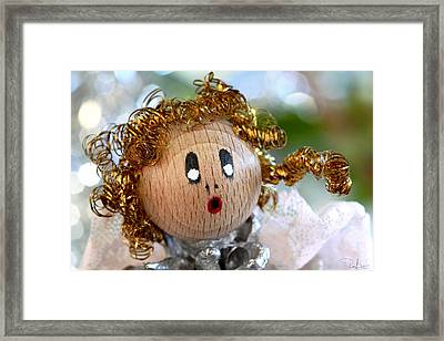 Framed Print featuring the photograph Little Singing Angel by Raffaella Lunelli