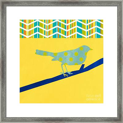 Little Song Bird Framed Print by Linda Woods