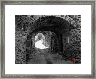 Little Street La Roche Alba Ardeche France Framed Print by Colette V Hera  Guggenheim