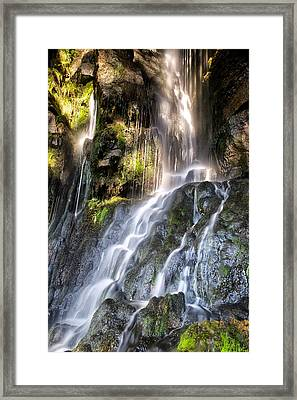 Little Thornton Force Framed Print by Chris Frost