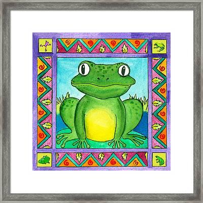 Little Toad Framed Print by Pamela  Corwin