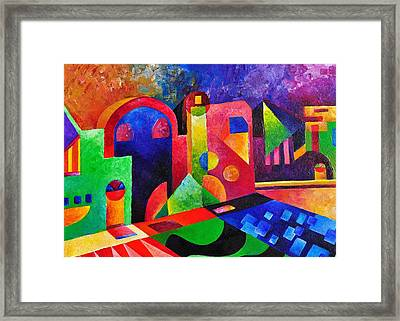 Little Village By Sandralira Framed Print