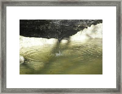 Little Waterfall Framed Print by Anna Stearman
