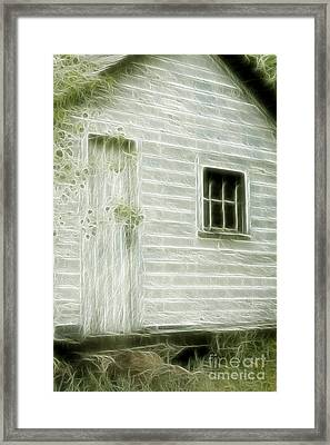 Little White Building Onaping Framed Print by Marjorie Imbeau