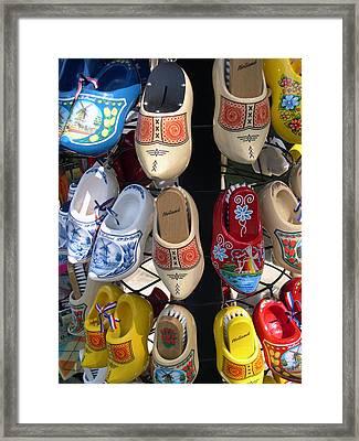 Little Wooden Shoes Framed Print by Jill Pro