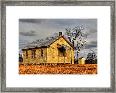 Little Yellow School Framed Print