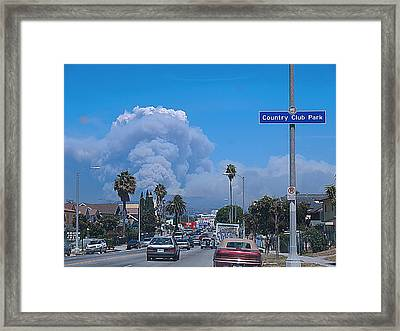 Live Fire Framed Print by D Wash