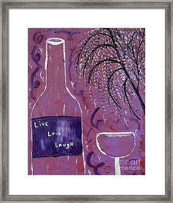 Live Love Laugh Wine Framed Print