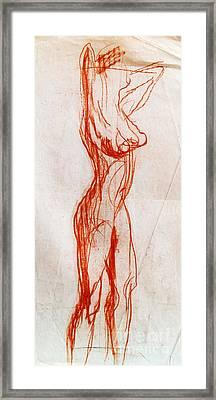Live Model Study 1 Framed Print by Mona Edulesco