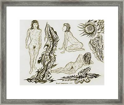Live Nude 17 Female Framed Print