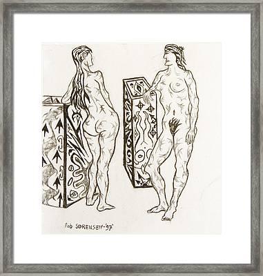Live Nude 19 Female Framed Print