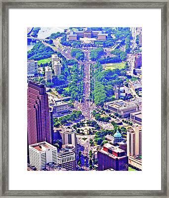 Live8 Concert Philadelphia Pennsylvania Framed Print by Duncan Pearson