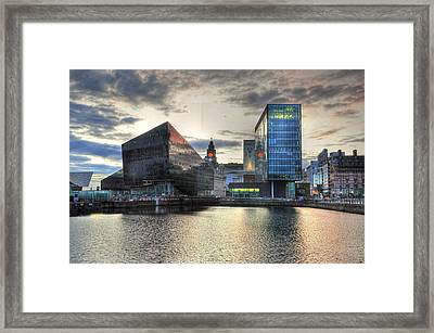 Liverpool After Dark Framed Print by Barry R Jones Jr