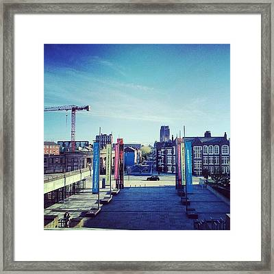 #liverpool #liverpoolcathedrals Framed Print by Abdelrahman Alawwad