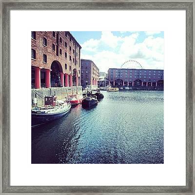 #liverpool #uk #england #british Framed Print