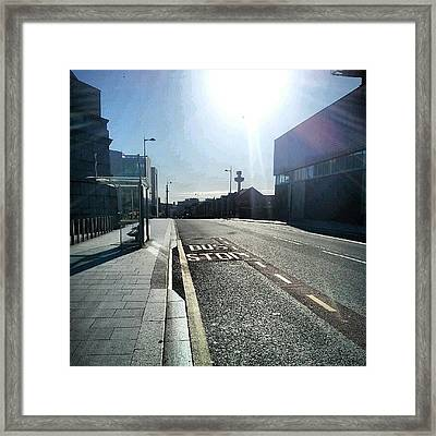 #liverpool #uk #england #bus #busstop Framed Print