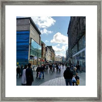 #liverpool #uk #england #street #market Framed Print by Abdelrahman Alawwad