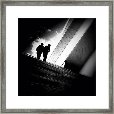Living Between The Lines - Concrete Framed Print