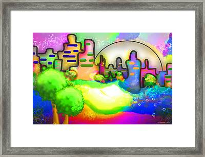 Living In Color Framed Print by Melisa Meyers