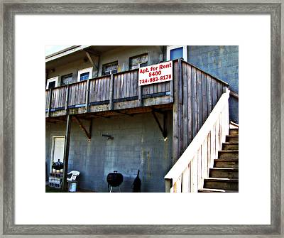 Framed Print featuring the photograph Living In The Ninety-nine Percent by MJ Olsen