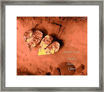 Living Love Framed Print