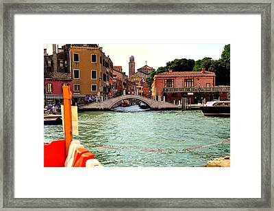 Living On The Water Framed Print by Barry R Jones Jr