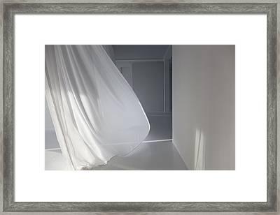Living Room Of A Modern Living Loft Framed Print by Willie Thomas