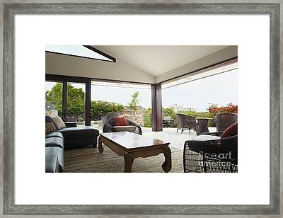 Living Room With A Tranquil View Framed Print by Inti St. Clair