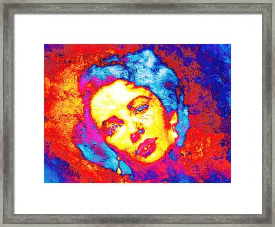 Liz Taylor Framed Print by J- J- Espinoza