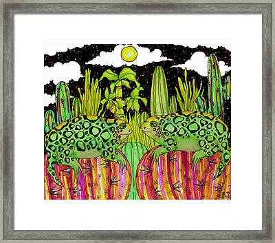 Lizards In Love Framed Print by Dede Shamel Davalos